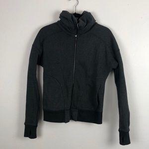 Lululemon Athletica Dark Gray Zip Up Jacket